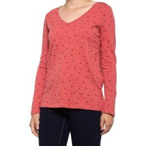 Dylan red with blue stars long sleeve tee